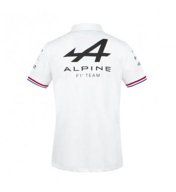 Polo coton blanc homme Alpine F1