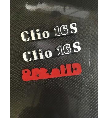 Monogrammes de hayon  Clio 16V  ou 16S