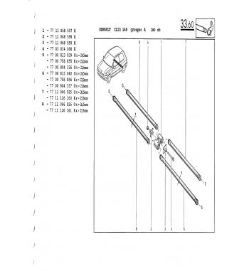 Fixation barre stab et torsion arrière