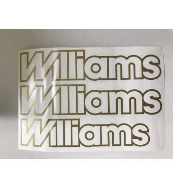 Lot de 3 adhésifs Williams Or Phase 1