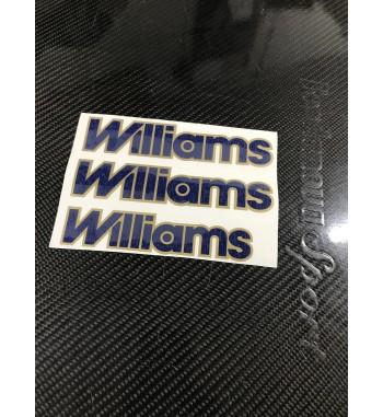 Lot de 3 adhésifs Williams Or Phase 2